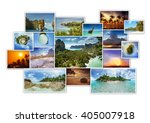 tropic photos collage. photo... | Shutterstock . vector #405007918