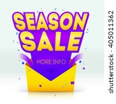 season sale poster illustration.... | Shutterstock .eps vector #405011362