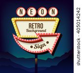 vintage signboard with lights.... | Shutterstock . vector #405014242
