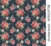 seamless vintage flower pattern  | Shutterstock .eps vector #405019738