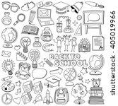 back to school doodle set.... | Shutterstock .eps vector #405019966