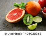 juicy composition of tropical... | Shutterstock . vector #405020368