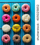 assorted donuts with different... | Shutterstock . vector #405025852