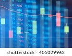 financial data on a monitor.... | Shutterstock . vector #405029962