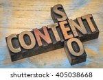content and seo crossword in... | Shutterstock . vector #405038668