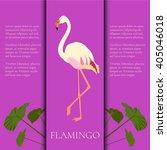 white flamingo design template... | Shutterstock .eps vector #405046018