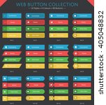 48 web button collection in 12... | Shutterstock .eps vector #405048832