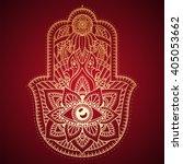 hamsa hand  hand of fatima  ... | Shutterstock .eps vector #405053662