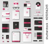 corporate identity template set.... | Shutterstock .eps vector #405056245