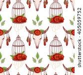 seamless pattern in boho style  ... | Shutterstock .eps vector #405059752