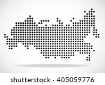 abstract map of russia from... | Shutterstock .eps vector #405059776