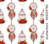 seamless pattern in boho style  ... | Shutterstock .eps vector #405059782