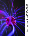 Plasma Ball  With Magenta Blue...