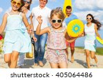 multiracial group of friends... | Shutterstock . vector #405064486