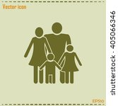 happy family icon in simple... | Shutterstock .eps vector #405066346