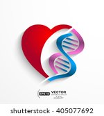dna concept.heart with double... | Shutterstock .eps vector #405077692