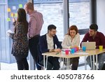 group of young business people  ... | Shutterstock . vector #405078766