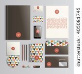 corporate identity template in... | Shutterstock .eps vector #405081745