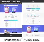website template design for... | Shutterstock .eps vector #405081802