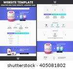 website template design for... | Shutterstock .eps vector #405081802
