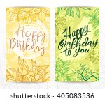 happy birthday cards set.... | Shutterstock .eps vector #405083536