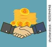 business man shake handfor team ... | Shutterstock .eps vector #405094948
