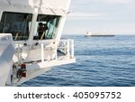navigation bridge of oil tanker ... | Shutterstock . vector #405095752