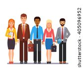 team of business man and woman...   Shutterstock .eps vector #405096952