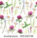 hand drawn watercolor seamless... | Shutterstock . vector #405100738