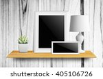 empty picture frame isolated... | Shutterstock . vector #405106726