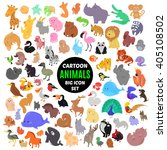 big set of cute cartoon animal... | Shutterstock .eps vector #405108502