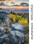scenic autumn sunrise  bear... | Shutterstock . vector #405110422