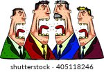 debate four speakers. political ... | Shutterstock .eps vector #405118246