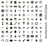 100 aviation icons | Shutterstock . vector #405125266