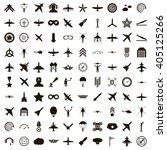 100 aviation icons | Shutterstock . vector #405125266