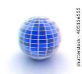 abstract 3d sphere with blue... | Shutterstock . vector #405136555