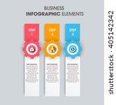 business infographics vector... | Shutterstock .eps vector #405142342