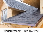 Detail Of Overlapping Roofing...