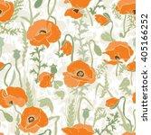 poppy field   seamless pattern. ... | Shutterstock .eps vector #405166252