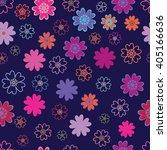 vector seamless pattern of... | Shutterstock .eps vector #405166636