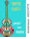 hippie party poster. hippy... | Shutterstock .eps vector #405174775