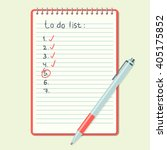 opened notepad with notes and... | Shutterstock .eps vector #405175852