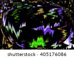 abstract futuristic globe. art... | Shutterstock . vector #405176086