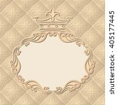 vintage background with royal... | Shutterstock .eps vector #405177445