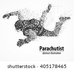 abstract parachutist from black ... | Shutterstock .eps vector #405178465