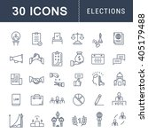 set vector line icons with open ... | Shutterstock .eps vector #405179488