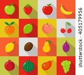 Fruits Set Of Flat Icons.fruit...