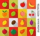fruits set of flat icons.fresh  ... | Shutterstock .eps vector #405179956