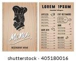 restaurant food menu design...   Shutterstock .eps vector #405180016