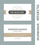 vintage ornament business card... | Shutterstock .eps vector #405181732